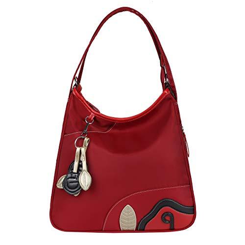 Eshow Borsa a Tracolla da Donna Zainetto Donna in Nylon Borsa a Spalla Casual Grande Capacità Multifunzione per Viaggio Shopping Lavoro alla Moda