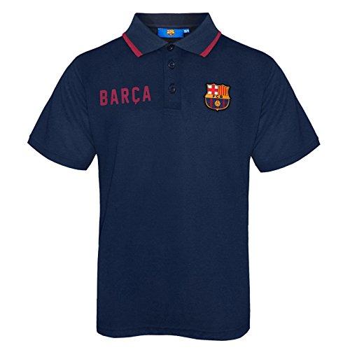 FC Barcelona - Jungen Polo-Shirt mit Wappen - Offizielles Merchandise - Geschenk für Fußballfans - Blau - Marineblau - 12-13 Jahre