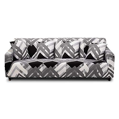 HALOVIE Copridivano Elasticizzato, Copertura Divano Sofa Protezione Universale Decorativa per Divani a 4 Posti (235-300cm) con 1 Fodera per Cuscino (45 * 45cm)