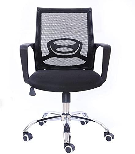 TAIDENG Silla de escritorio ejecutiva para computadora de oficina, ergonómica, ajustable y giratoria de tela de malla con cómodo apoyo lumbar