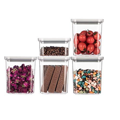 Food storage box Langlebige Reisbox versiegeltes Glas Kunststoff Getreide Trockengüter Aufbewahrungsbox Küche Milk Pulver Lebensmittel Vorratsdose Aufbewahrungsdose Jar langlebig, Plastik, Large