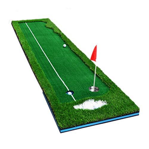 Tappetini per Colpire Tappetino da Golf Putting Green Indoor Pratica per Il Tiro al Golf per Allenamento Indoor O Outdoor Attrezzature Sportive per Il Tempo Libero (Color : Green, Size : 50X300CM)