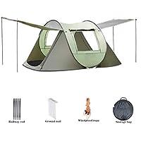 Nologo Sombrilla Parasol Tienda Portable de la cabaña de Playa, de instalación fácil rápida Dome Tiendas de campaña Familiares for Acampar - Se Adapta a 3-4 Personas