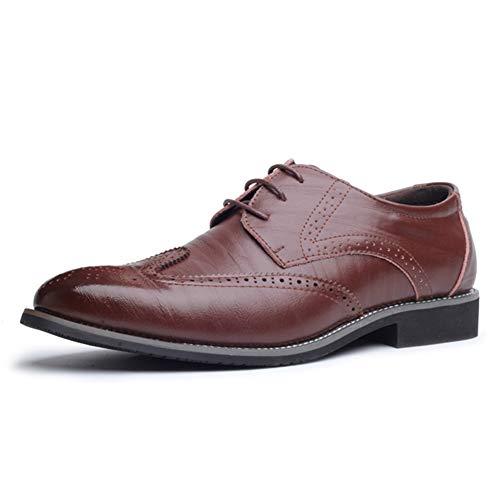 Qianliuk Männer Kleid Schuhe British Style Leder Oxford Schuhe für Männer Lace-Up Business Herren Schuhe