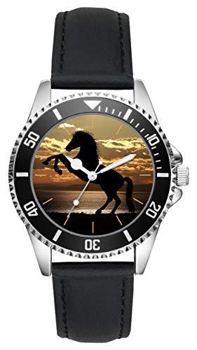 Pferde Reiter Geschenk Artikel Idee Fan Uhr L-20538