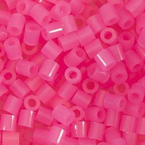 Vaessen Creative 5009-027 Bügelperlen, Neon Pink, 1100 Stück, Steckperlen zum Basteln mit Kindern, DIY Gestalten von Schmuck, Deko, Verzierungen und weiteren Bastelideen