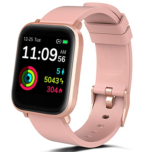 FITVII Smart Watch, Fitness Tracker with Heart Rate Monitor, IP68 Waterproof Smartwatch with Blood Oxygen Sleep Tracking, Step Calorie Counter, Activity Tracker for Women Men
