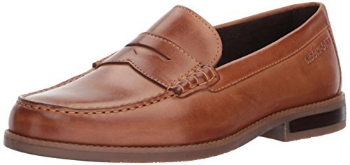 Rockport Men's Curtys Penny Penny Loafer, cognac, 10.5 M US