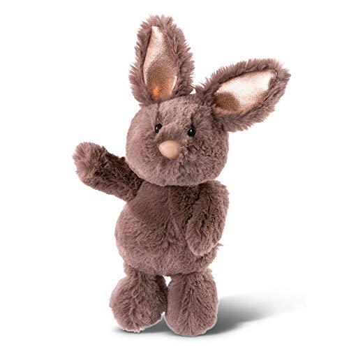 NICI 46334 Kuscheltier Hase Dunkelbraun 20cm – Plüschtier für Mädchen, Jungen & Babys – Flauschiges Stofftier zum Spielen, Sammeln & Kuscheln – Gemütliches Schmusetier