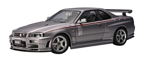 Nissan Skyline GT-R R34 Nismo S-Tune, 2001 silber, upgraded - 1:18