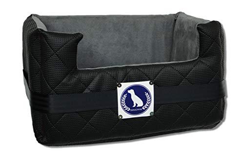 DOGGYFIX | Auto Hundesitz mit ISOFIX | Hundebett | Autositz für Hunde | (M 57x50x25 cm, Schwarz)