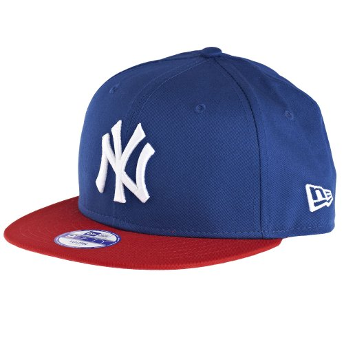 New Era Jungen Baseball Cap Mütze MLB 9 Fifty Block NY Yankees Snapback, Blau (Navy-Red), One size, 10880042