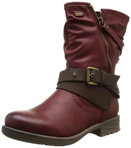 TOM TAILOR Kids Mädchen Kinderschuhe Biker Boots, Rot (Bordo), 39
