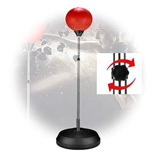 Bokssnelheidsbal Voor Kinderen, Volwassen Verticale Magic Vent-Bal, Tumbler-Bokszak, Trainingsapparatuur Voor Thuisreactie, 100-150 Cm In Hoogte Verstelbaar, Rood,Adult