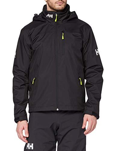 Helly Hansen Herren Crew Hooded Midlayer Jacke, Black, XL EU