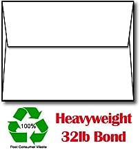 A6 White 32lb Bond 100% Recycled Envelopes - 250 Envelopes