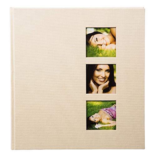 goldbuch Fotoalbum mit 3 Fensterausschnitten, Style, 30 x 31 cm, 60 weiße Seiten mit...