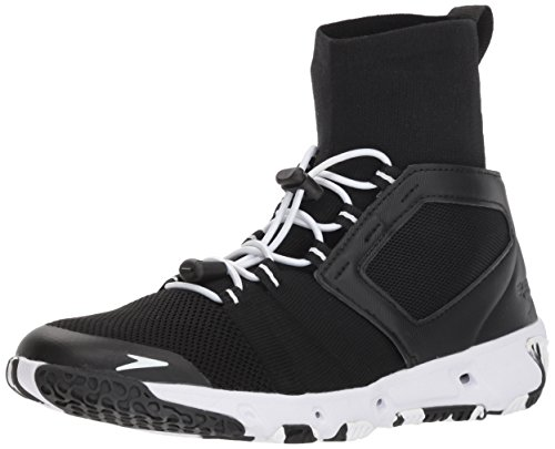 Speedo Women's Water Shoe Hydroforce XT Athletic-Discontinued, black/white, 10 Womens US