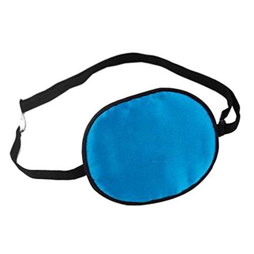 Patch d'oeil de sommeil de soie d'enfants pour le traitement d'Amblyopia d'oeil paresseux, Bleu