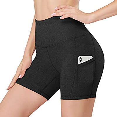 Amazon - 70% Off on 5″/8″ Inseam High Waist Women Yoga Shorts Compression Exercise Workout