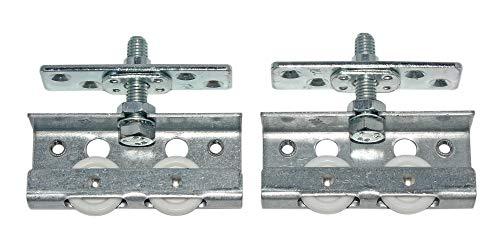 HKB  1 Garnitur Top Line 3 Schiebetürbeschlag für Seiten- oder nutgeführte Türen bis 40kg/Tür, Metall mit Kunststoff, für 1 Tür mit Nutführung inkl. Befestigungsmaterial, Hettich, Artikelnr. 1478