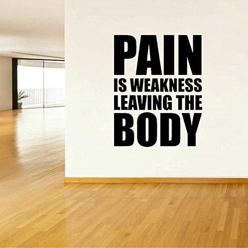 Schmerz Ist Schwäche, Die Den Körper Verlässt Fitness Quote Wall Sticker 45Cm * 52Cm