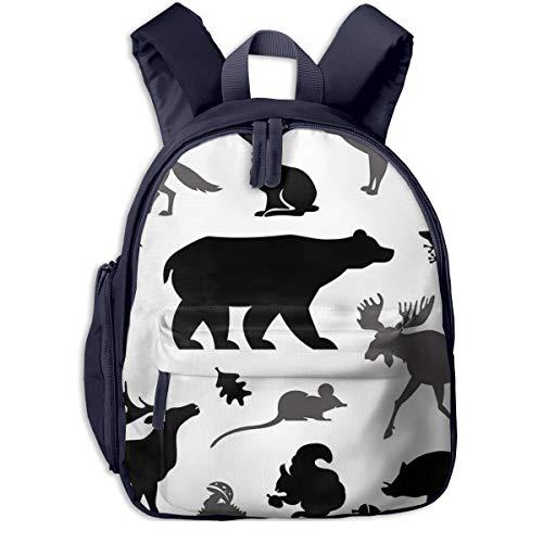 Mochilas Infantiles, Bolsa Mochila Niño Mochila Bebe Guarderia Mochila Escolar con Moose Living para Niños de 3 A 6 Años de Edad
