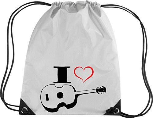 Camiseta stown Premium gymsac Música I Love Ukelele, plata
