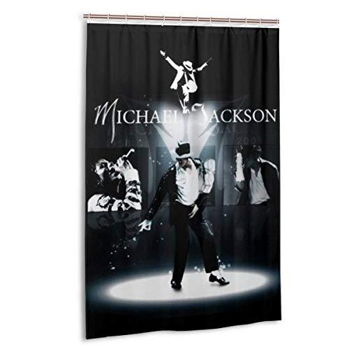 milkcolor Michael Jackson Duschvorhang Liner wasserdichtes Polyestergewebe Badezimmer Duschvorhang Stoff Duschvorhang 12 Haken 48 X 72 Zoll
