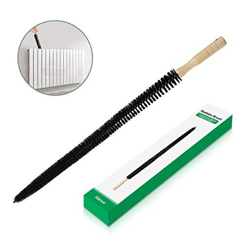 Brosse pour radiateur, AIEVE Long Brosse de nettoyage pour radiateur Brosse à charpie Brosse à linge flexible Brosse à tuyau flexible Outil de nettoyage de conduits, Noir