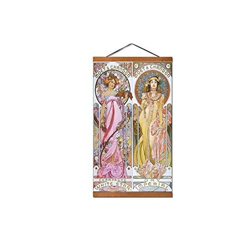 Alphonse Mucha Vintage Illustration Affiches Et Estampes Peintures Art Nouveau Décoratives Art Mural-45x70 cm