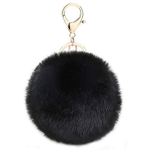 Kereda Pompons Schlüsselanhänger, Plüsch Taschenanhänger, Flauschige Pompom Taschenanhänger, Faux Kaninchen Pelz Plüschball Schlüsselanhänger für Handtasche Schlüssel Auto