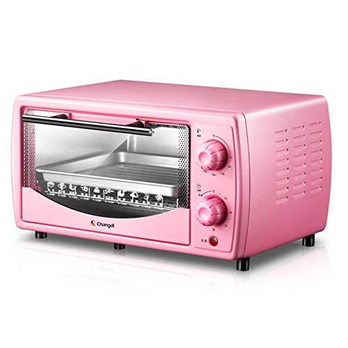Toaster oven Mini Grille-Pain Automatique 10L, Haut Et Bas Chauffage À Tube De Quartz Infrarouge Chauffage 60 Minutes Minuterie De Cuisson Librement Rétractable 700W (Rose) 199 * 363 * 287mm
