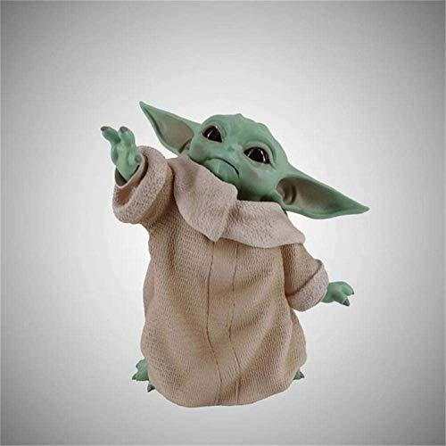 Feeyond Yoda Baby Doll Ornamente Figur Puppe Spielzeug Star Wars Mandalorian