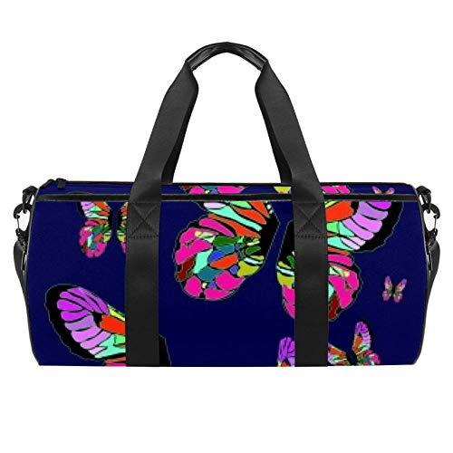 Impresionante bolso de lona de lona para llevar el hombro para gimnasio, deportes, danza, viajes, fin de semana