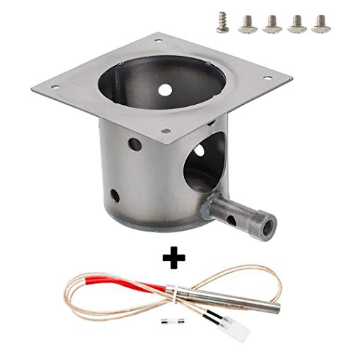 ZHOUWHJJ Fire Pot Burn Pot and Hot Rod Ignitor Kit Replacement Parts for Traeger and Pit boss Pellet Grill