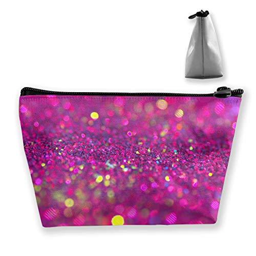 Sparkly roze glitter in heldere kleuren Womens Travel cosmetische tas draagbare toiletborstel opslag multifunctionele pen potlood zakken accessoires naaien kit zak make-up draagtas