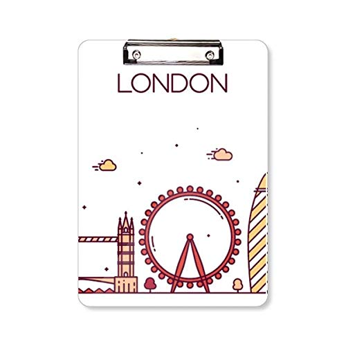 Londen Engeland plat oriëntatiepatroon klembord map schrijfblok achterplaat A4