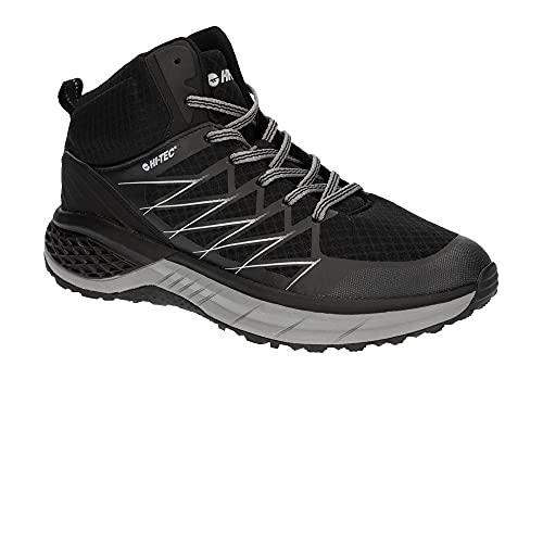 Hi-Tec Trail Destroyer, Zapatillas para Caminar Hombre, Negro Plateado, 44 EU
