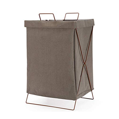 Best Deals! LHQ-HQ Dirty Clothes Storage Box Family Indoor Storage Series 100% Non-Woven Material/Brown / 52CM30CM35CM