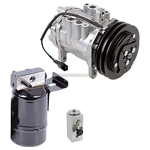 AC Compressor w/A/C Drier & Orifice Tube For Dodge Ram Pickup & Ramcharger 1988 1989 1990 1991 w/Gas Engine - BuyAutoParts 60-81977RS New