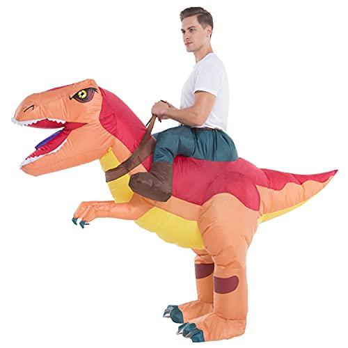 Inflatable Dinosaur Costume Adult Men Women, Inflatable Blow Up Costume Riding Trex Dinosaur Costume Youth, Inflatable Ride On Dinosaur Halloween Costume Teen