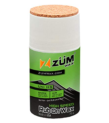 ZUMWax HIGH Fluoro RUB ON Wax Ski/Snowboard ? All Temperature Universal - 70 Gram - HIGH Fluoro Racing RUB ON Wax at Incredible Price!!! Super-Fast!!!