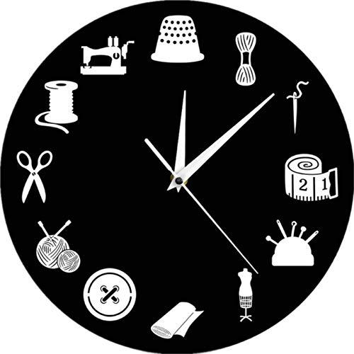 Reloj de pared para decoración de la habitación de costura moderno reloj...