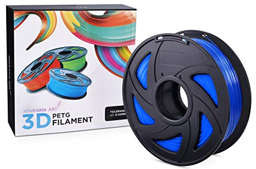 Ataraxia Art Highest Quality Tangle and Clog-Free PETG 3D Printer Filament 1.75mm 1KG with a Dimensional Accuracy +/- .02mm. Choose from 15 Beautiful Colors. Incredible Strength and Layer bonding.