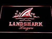 Landshark Lager Bar Pub Club LED看板 ネオンサイン ライト 電飾 広告用標識 W60cm x H40cm レッド
