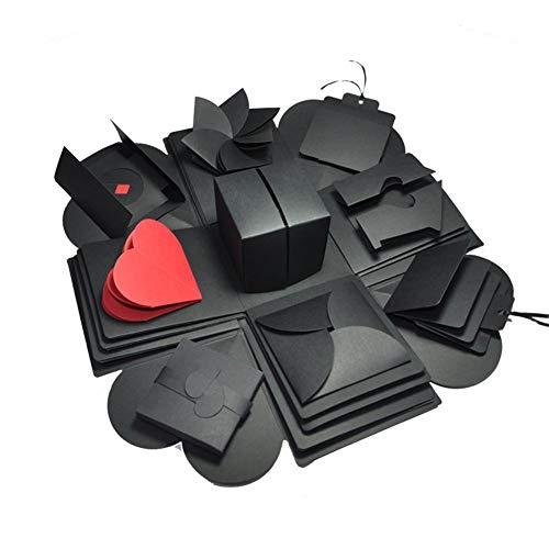 Caja de regalo de explosión de Terynbat, caja de explosión, hecha a mano, caja de regalo, álbum de fotos, caja de regalo, ideal para cumpleaños, día de San Valentín, aniversario de boda