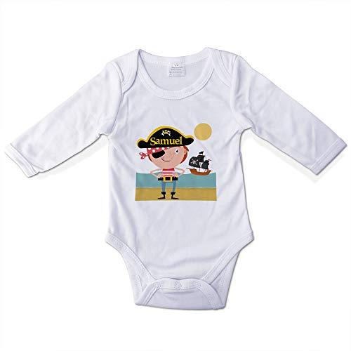 Body Bebé Niño Personalizado con Nombre. Regalos Personalizados para Bebés. Bodies Personalizados Manga Larga. Varias Tallas. Pirata