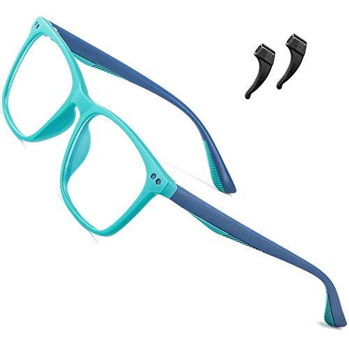 ATTCL blaulichtfilter brille kinder computerbrille zum Alter 3-10 Blockieren von UV-Kopfschmerz Gaming Brille 5103 light+blue