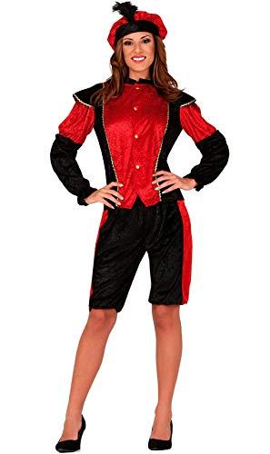 Guirca Disfraz de PAJE Real Roja para Mujer